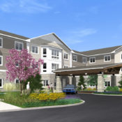 residences at coffee creek building rendering