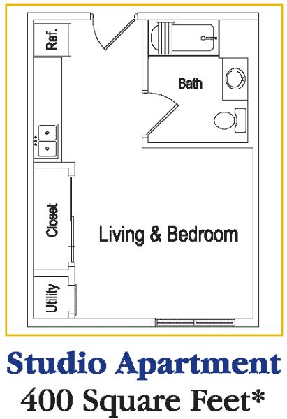Residences deer creek assisted senior living memory for Studio apartment building plans