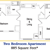 two bedroom apartment floor plan