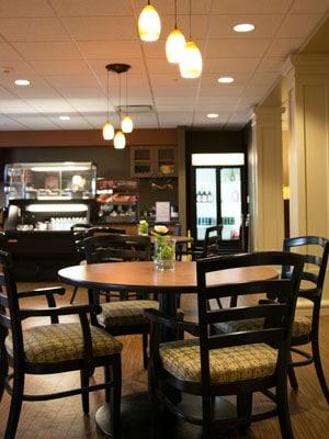 residences senior living cafe in the fall