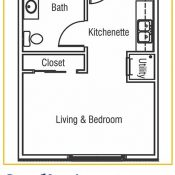 Residences at Coffee Creek Floorplan Memory Studio