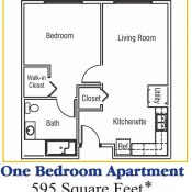 Residences at Coffee Creek Floorplan One Bedroom