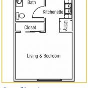 Residences at Coffee Creek Floorplan Studio