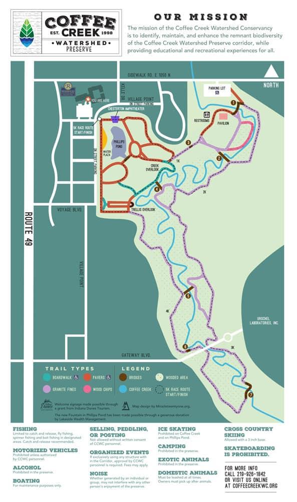coffee creek watershed preserve map