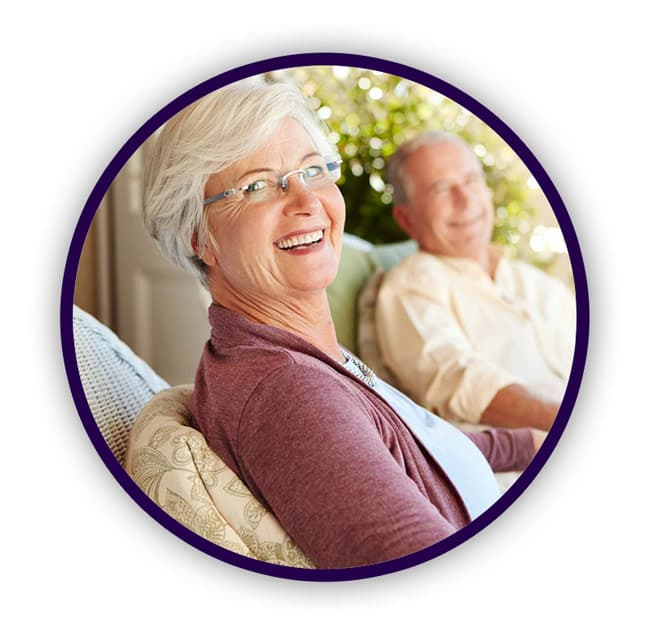 Senior couple with dementia at Residences at Coffee Creek in Chesterton, Indiana