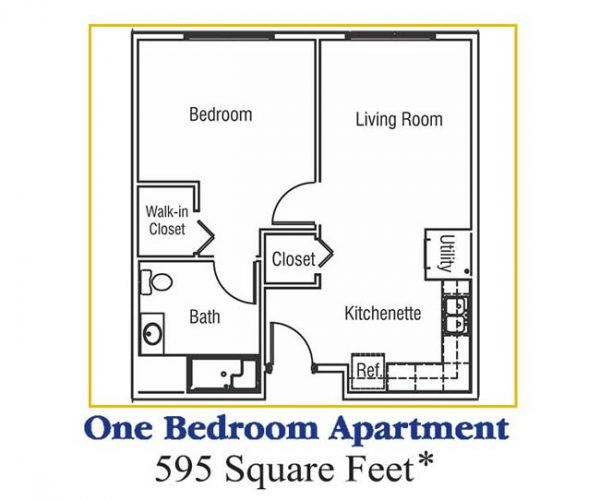 one bedroom apartment at rcc