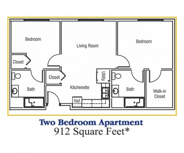 2 bedroom apartment at rcc