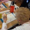 Senior Painting at Residences Senior Living Memory Care